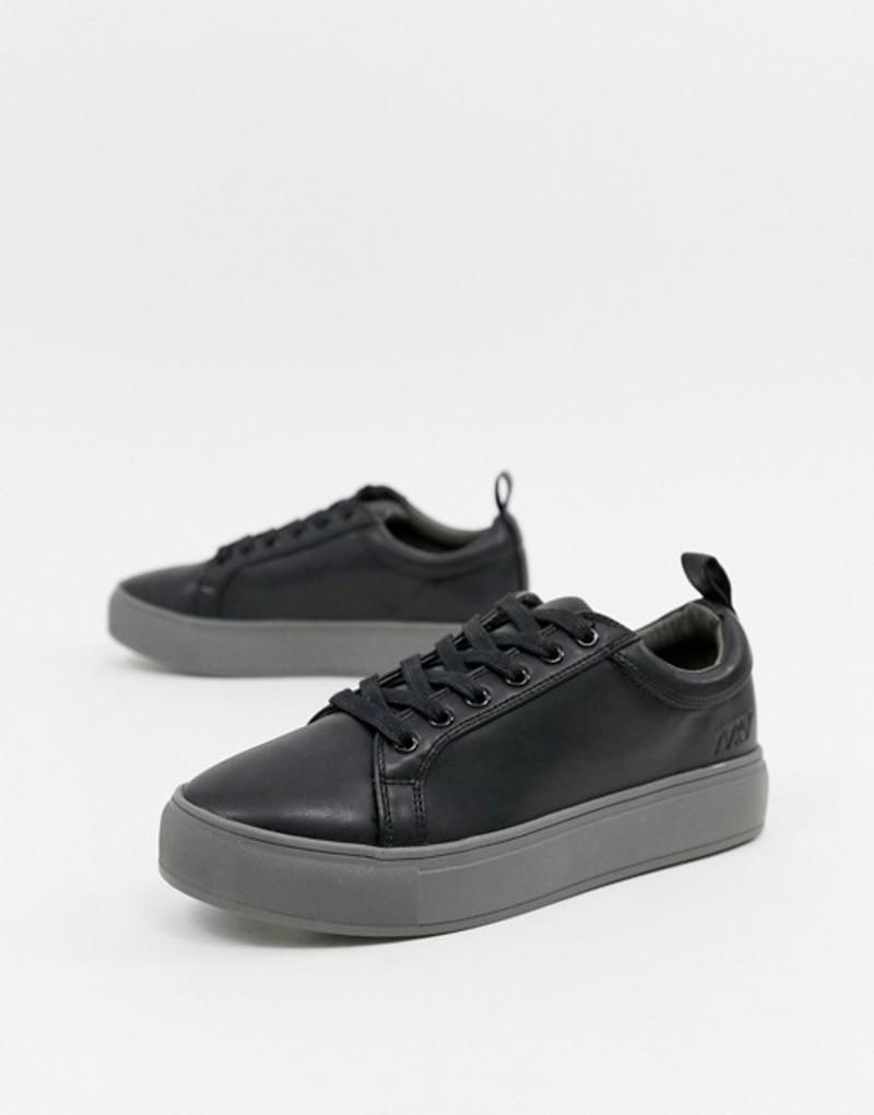 マットアンドナット レディース スニーカー シューズ Matt & Nat lace up sneakers Black