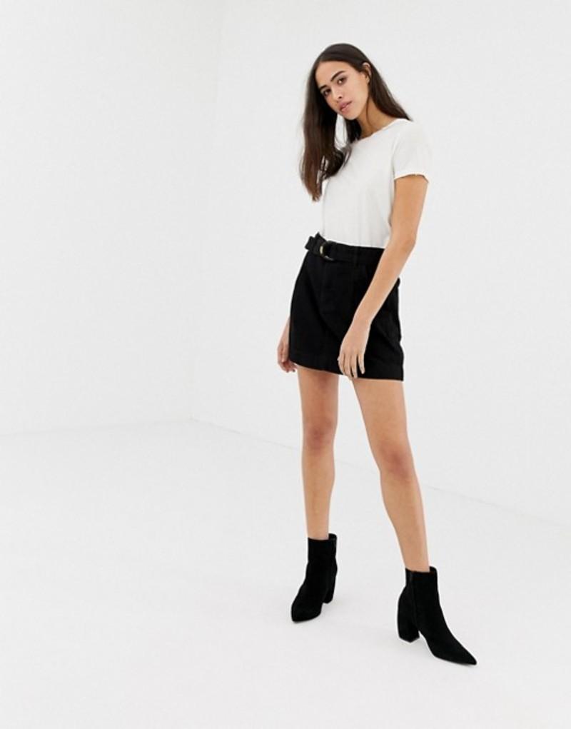 フリーピープル レディース スカート ボトムス Free People Jade belted denim skirt Black