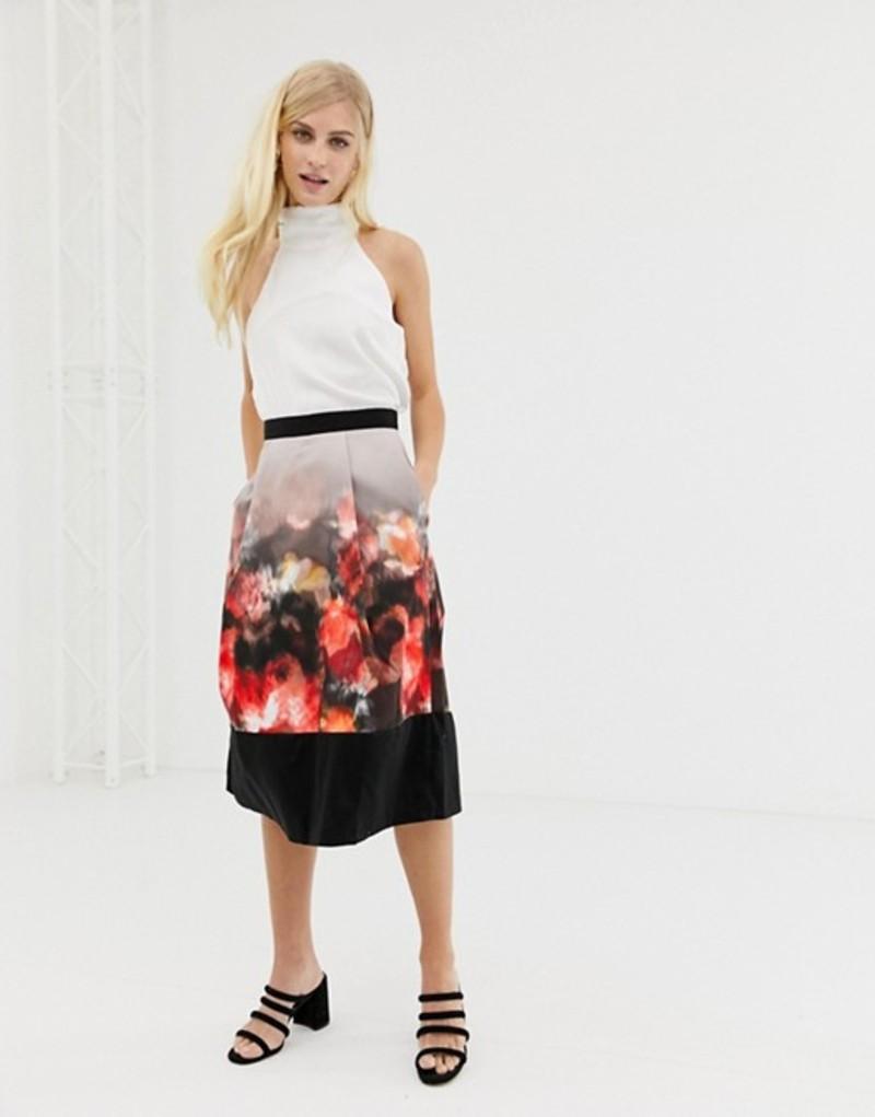 クローゼットロンドン レディース スカート ボトムス Closet pleated skirt with border print Multi