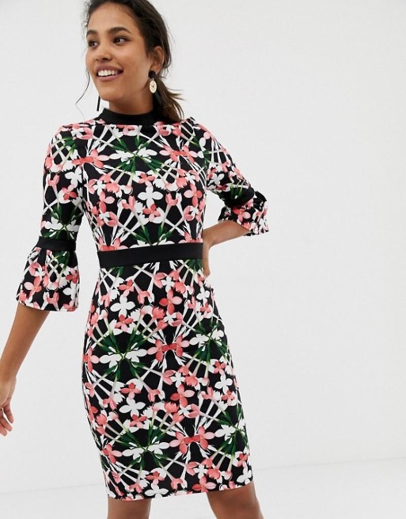 ペーパードールズ レディース ワンピース トップス Paper Dolls flute sleeve bloom dress Multi