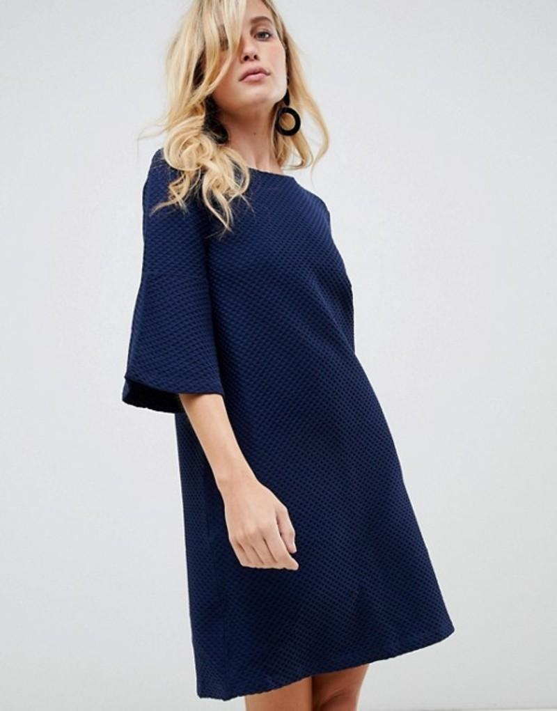 フレンチコネクション レディース ワンピース トップス French Connection Paros bell sleeve shift dress Nocturnal navy