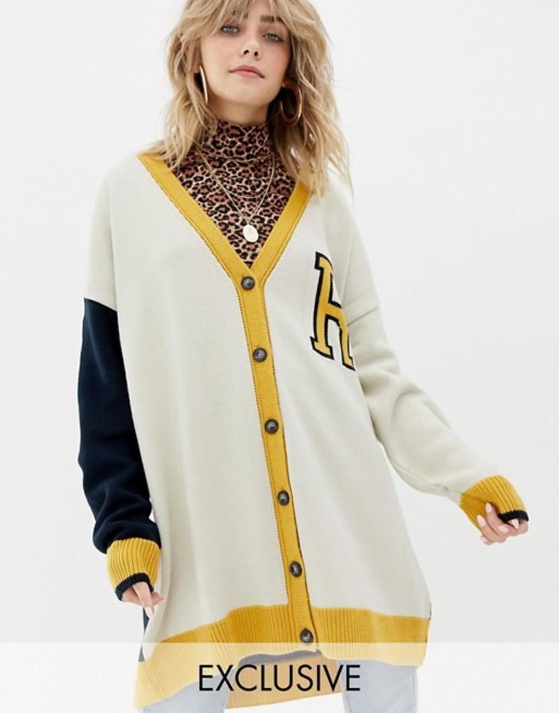リクレイム ヴィンテージ レディース カーディガン アウター Reclaimed Vintage inspired oversized varsity cardigan Multi