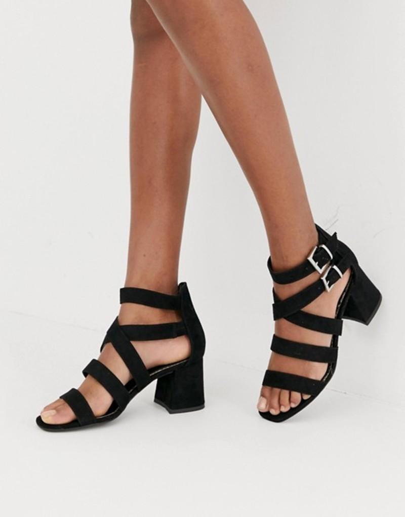ニュールック レディース サンダル シューズ New Look multi strap sandal in black Black