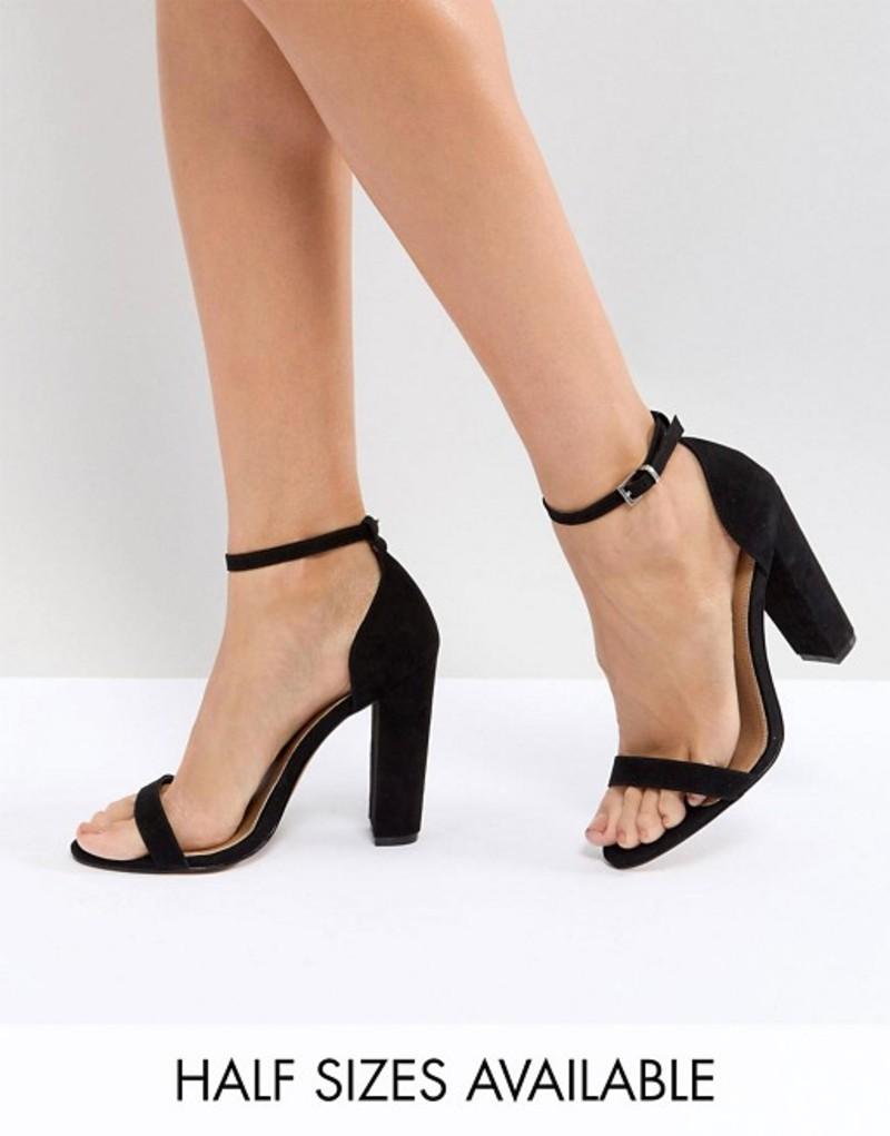 エイソス レディース サンダル シューズ ASOS DESIGN Highball barely there Block Heeled sandals Black