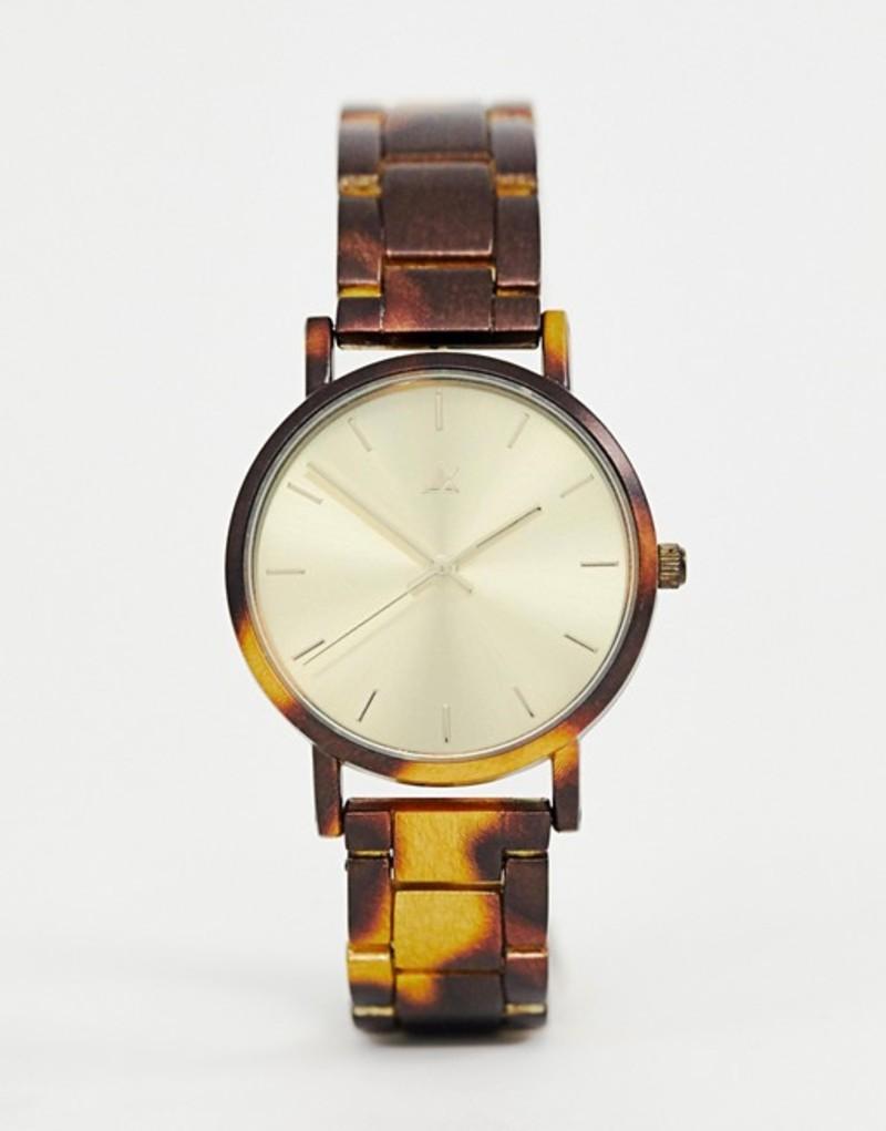 エイソス レディース 腕時計 アクセサリー ASOS DESIGN premium watch with tortoiseshell printed metal strap Multi