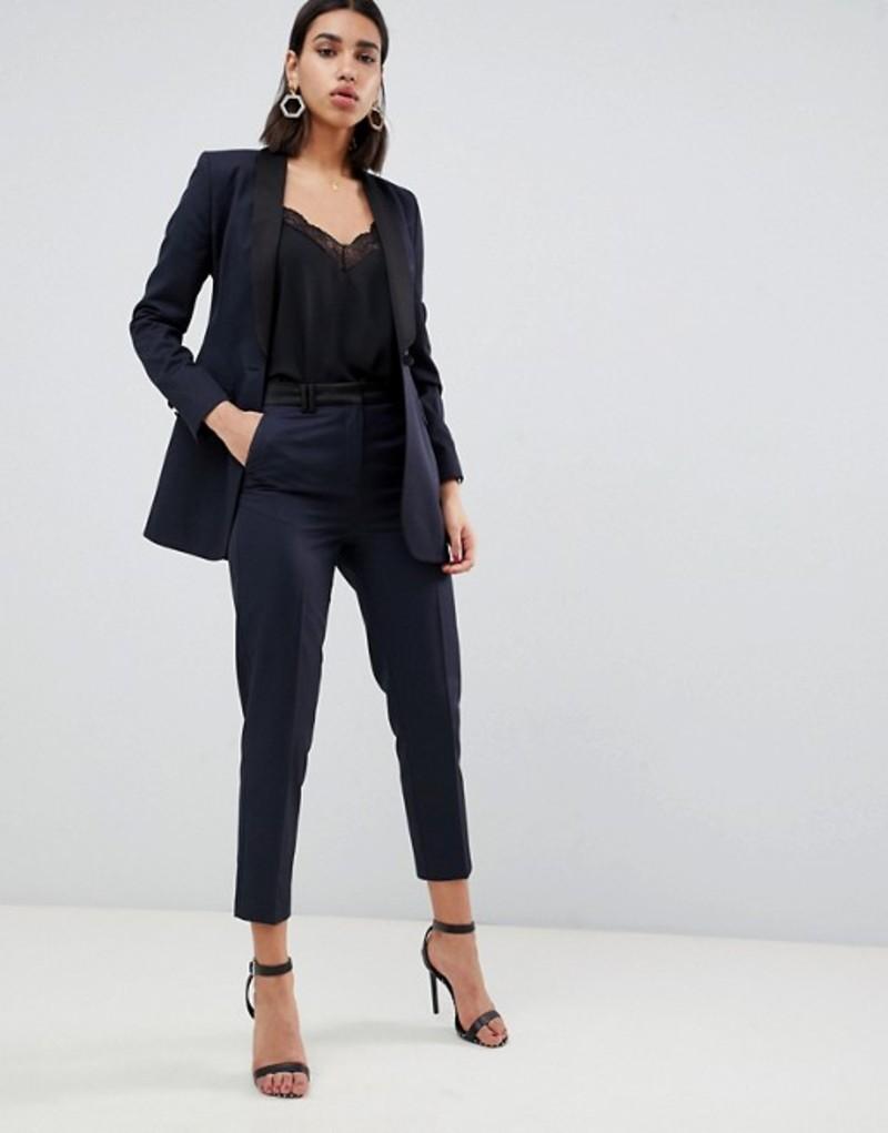 エイソス レディース カジュアルパンツ ボトムス ASOS DESIGN Premium tux slim suit pants Navy