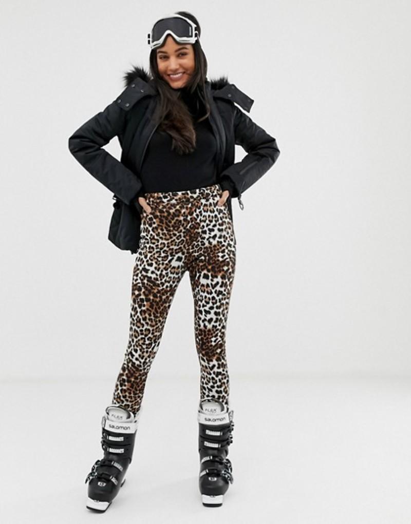 エイソス レディース レギンス ボトムス ASOS 4505 SKI mix and match pants in super slim fit in leopard print Leopard