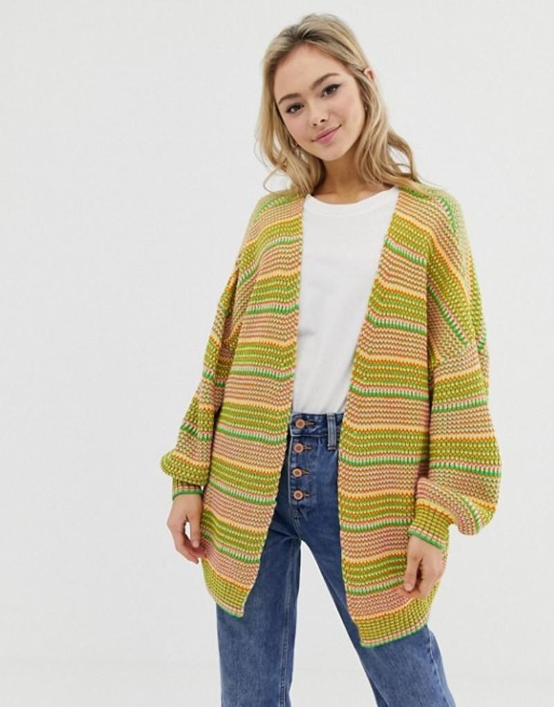 エイソス レディース カーディガン アウター ASOS DESIGN cardigan in twist yarn Multi