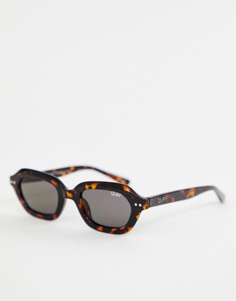 クアイオーストラリア メンズ サングラス・アイウェア アクセサリー Quay Australia Anything Goes slim square sunglasses in tort Brown