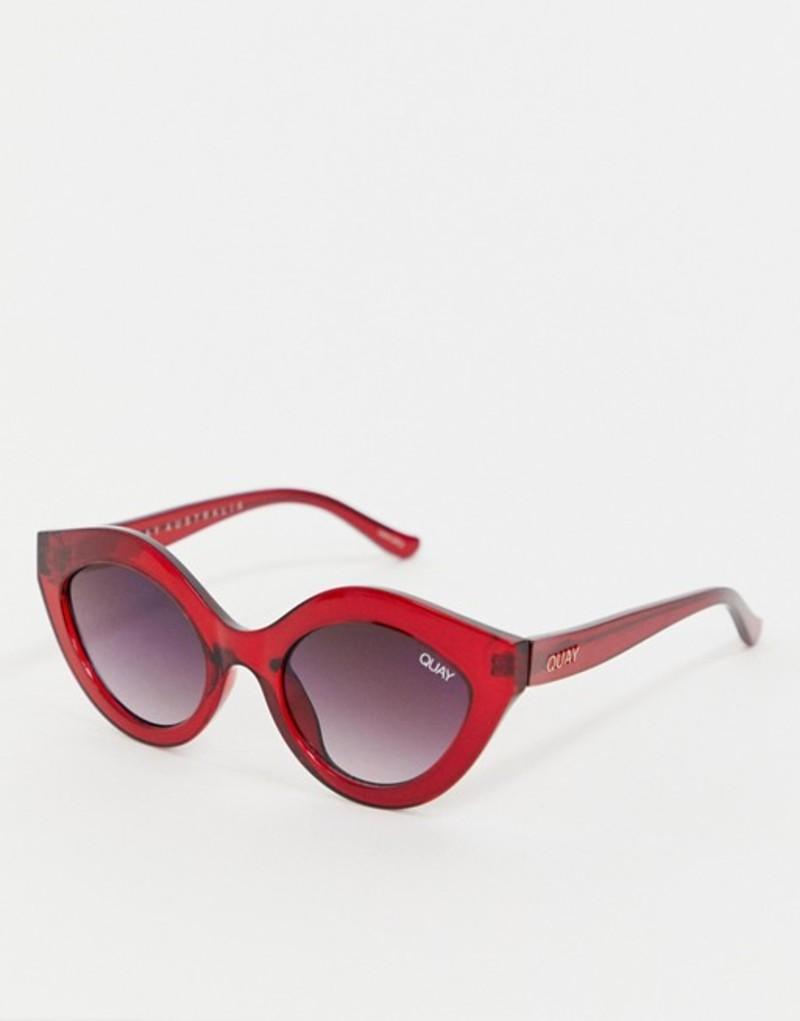 クアイオーストラリア メンズ サングラス・アイウェア アクセサリー Quay Australia Goodnight Kiss cat eye sunglasses in red Red