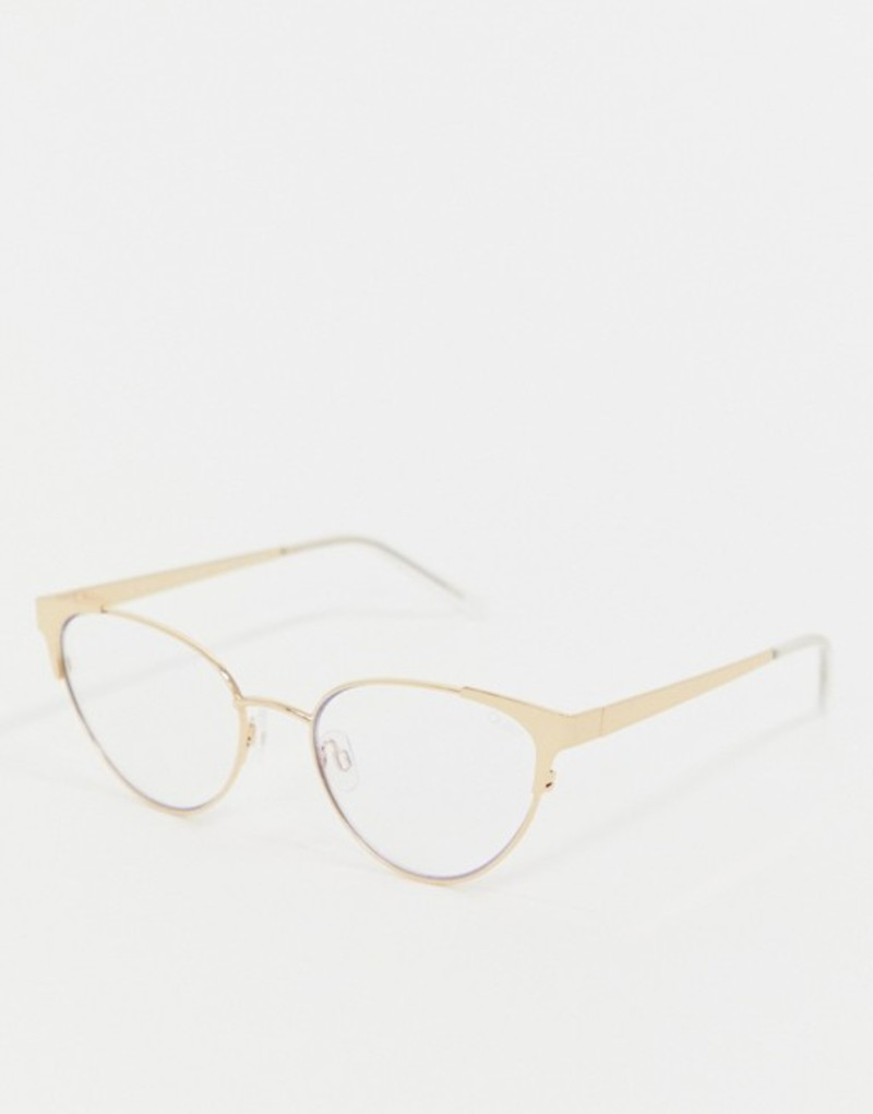 クアイオーストラリア メンズ サングラス・アイウェア アクセサリー Quay Australia Song Bird cat eye clear lens glasses in gold Gold