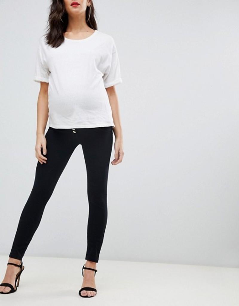 フレッディ レディース デニムパンツ ボトムス Freddy Jeans Maternity shaping skinny jean Black