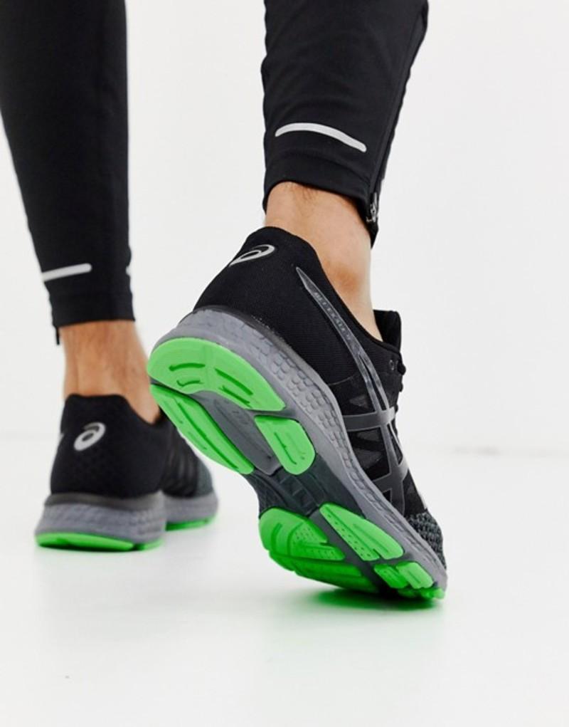 アシックス メンズ スニーカー シューズ Asics Gel Exalt sneakers in black Black/green