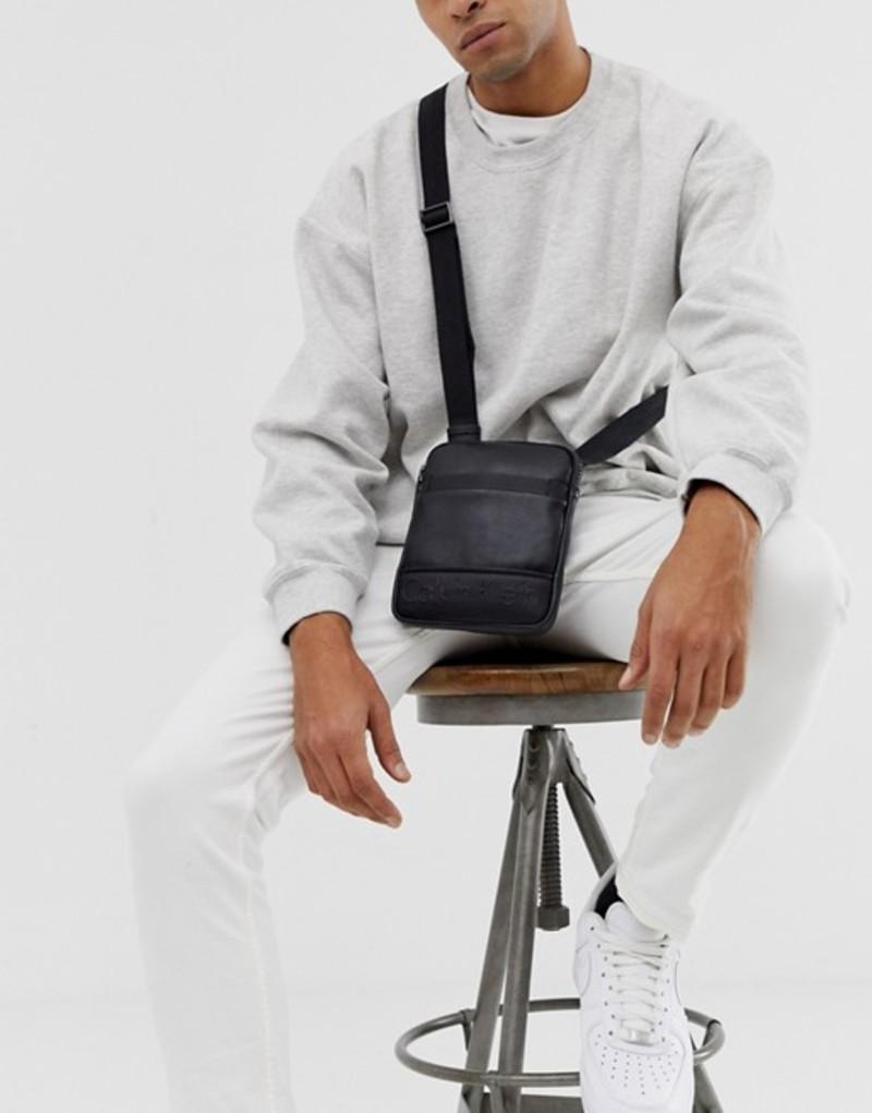 カルバンクライン メンズ トラベルケース・パスポートケース バッグ Calvin Klein crossbody bag Black