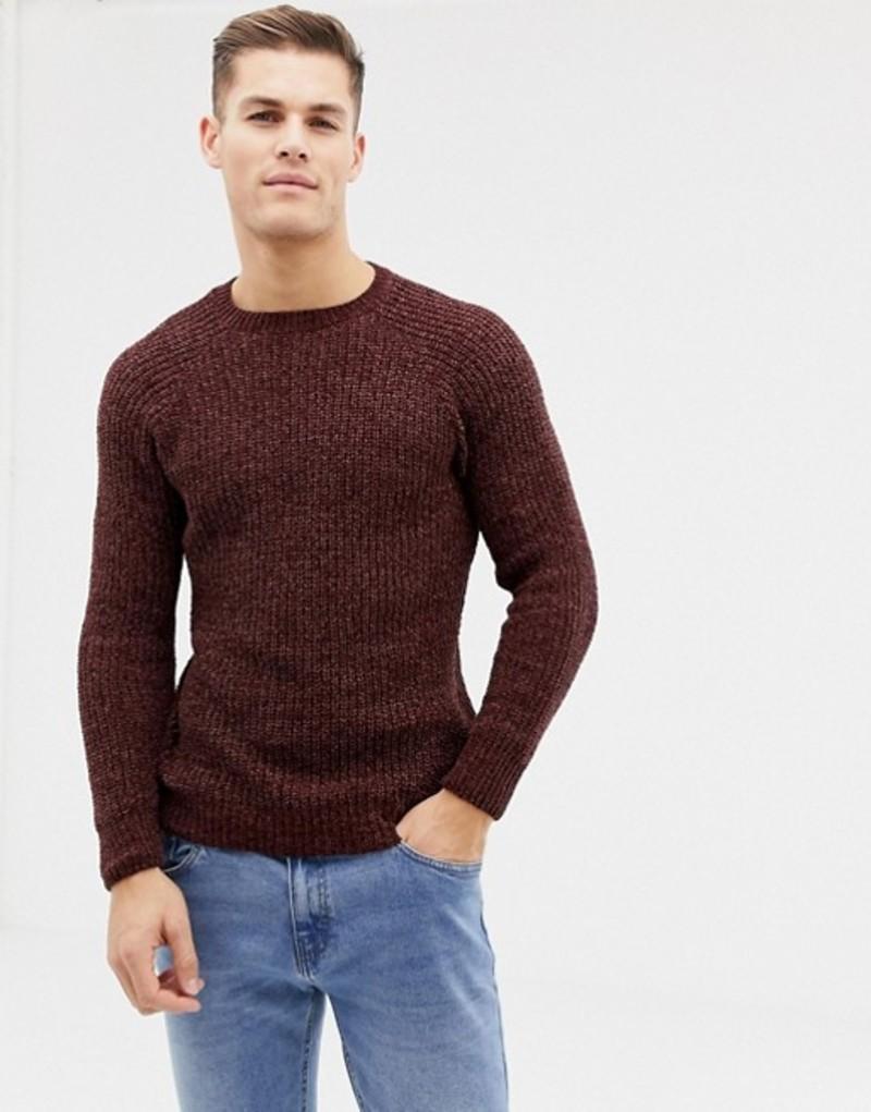ニュールック メンズ ニット・セーター アウター New Look chenille knit sweater in burgundy Light burgundy