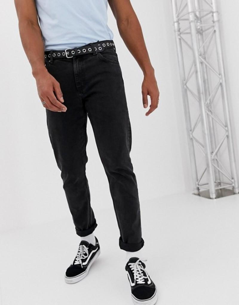 ウィークデイ メンズ デニムパンツ ボトムス Weekday sunday tapered jeans tuned black Black