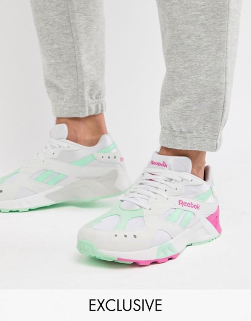 リーボック メンズ スニーカー シューズ Reebok Classic Aztrek Sneakers In White Exclusive to ASOS White