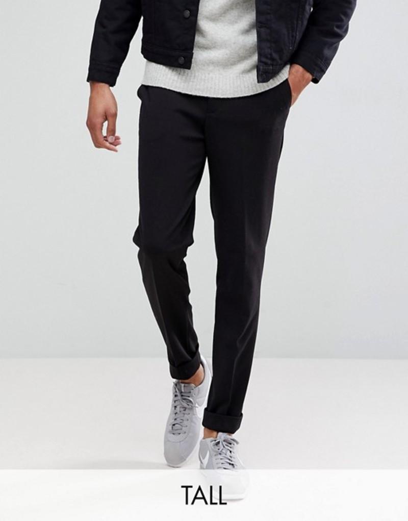 セレクテッドオム メンズ カジュアルパンツ ボトムス Selected Homme Tapered Cropped Jersey Pants Black