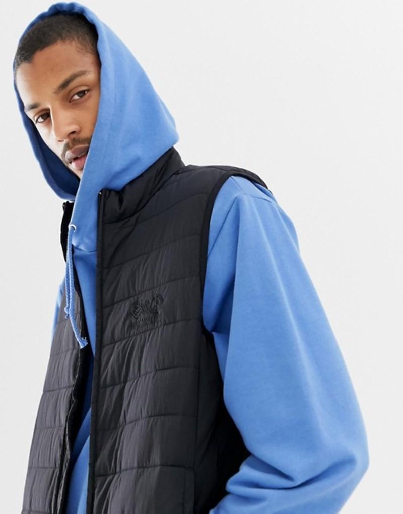 ラブ モスキーノ メンズ タンクトップ トップス Love Moschino padded vest Black