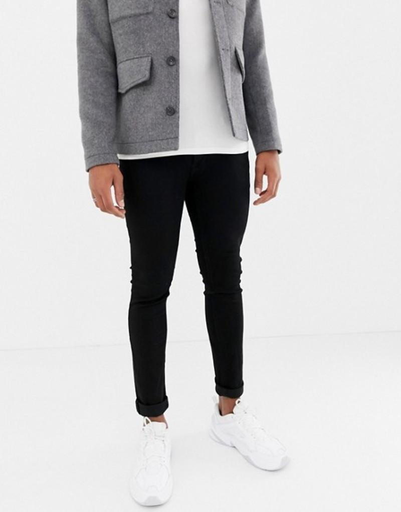 ジャック アンド ジョーンズ メンズ デニムパンツ ボトムス Jack & Jones skinny fit jeans in black Black denim