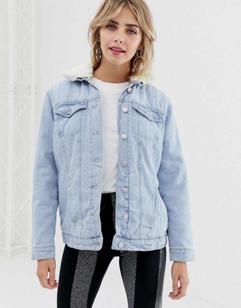 ニュールック レディース ジャケット・ブルゾン アウター New Look fleece lined denim jacket Blue