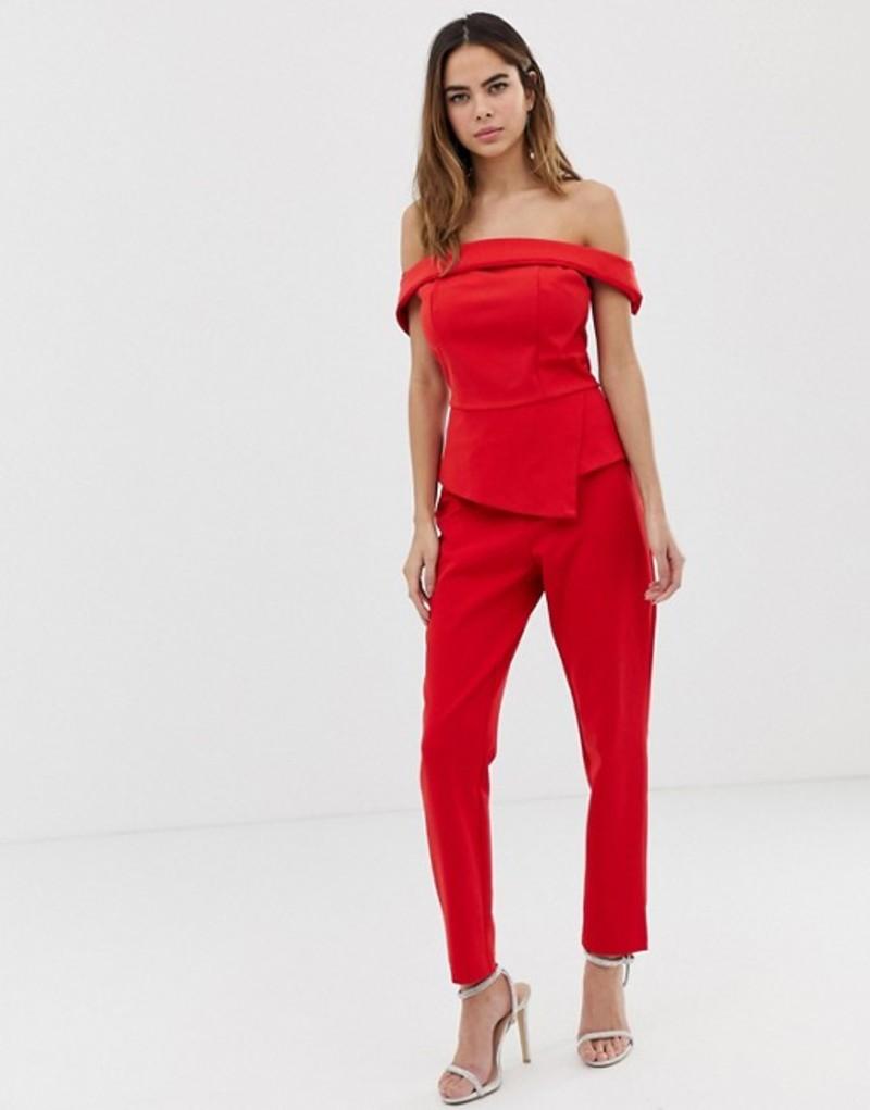 オアシス レディース カジュアルパンツ ボトムス Oasis high waisted pants Mid red