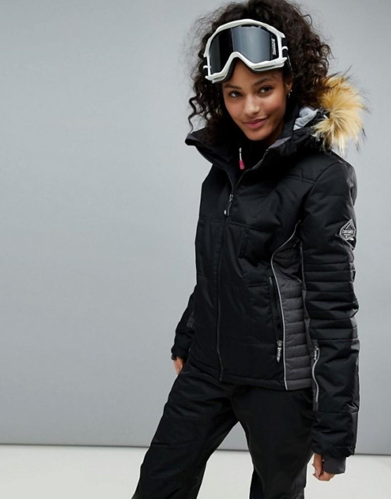 サーファニック レディース ジャケット・ブルゾン アウター Surfanic ski pulse jacket 020 black
