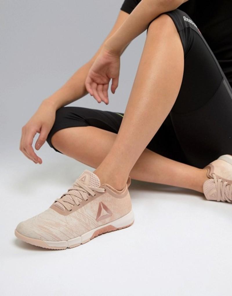 リーボック レディース スニーカー シューズ Reebok Training Speed Her Tr Sneakers In Beige With Metallic Logo Beige