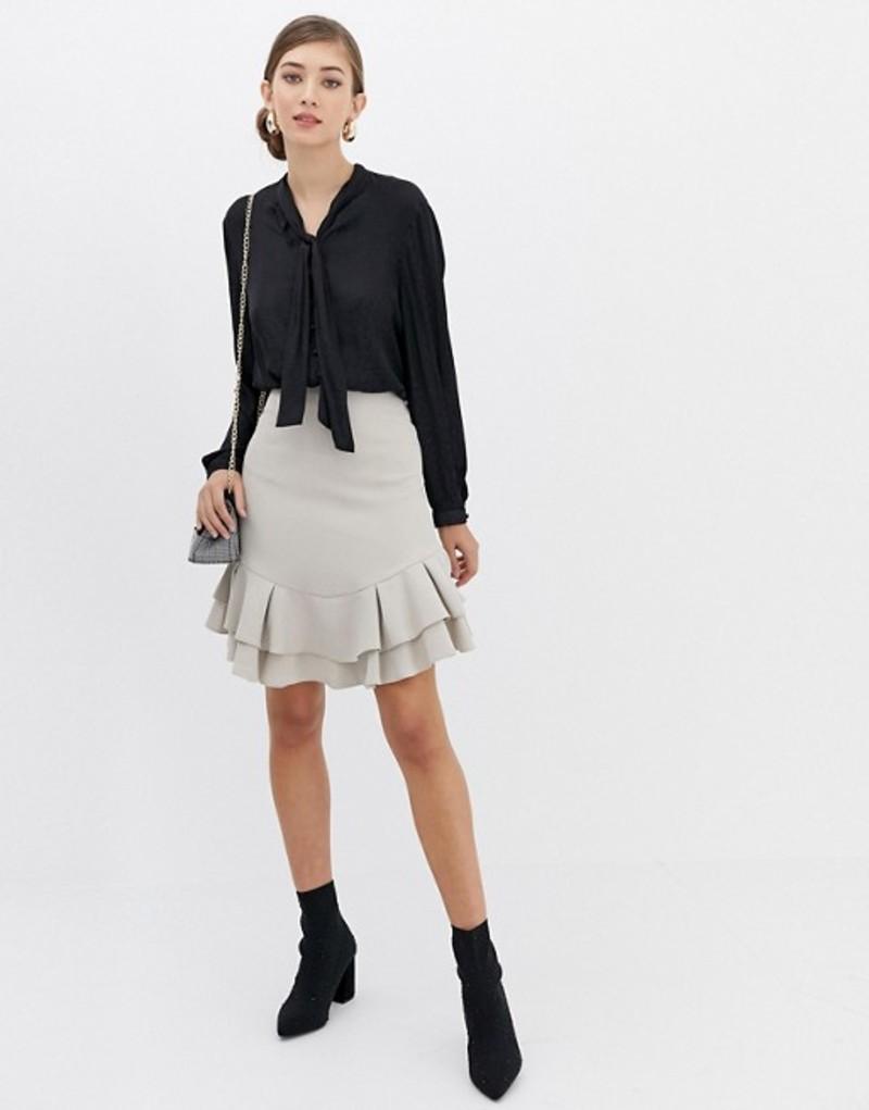クローゼットロンドン レディース スカート ボトムス Closet Frill Hem Skirt Cream