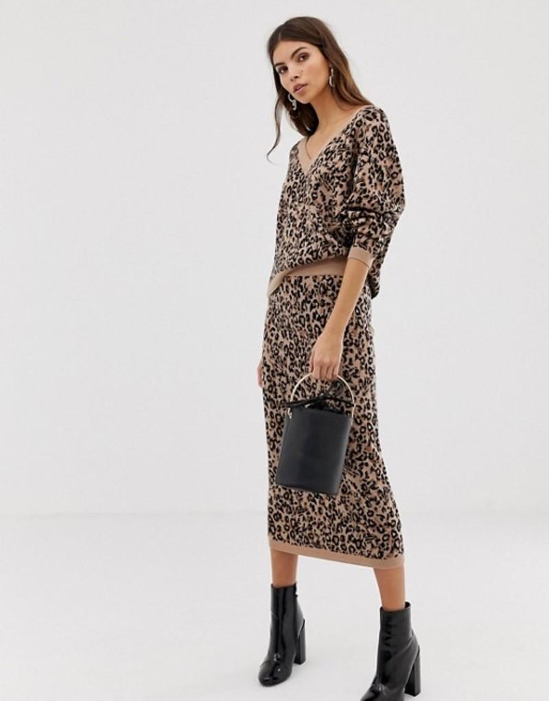 ホイッスルズ レディース スカート ボトムス Whistles jungle cat knitted midi skirt Multi