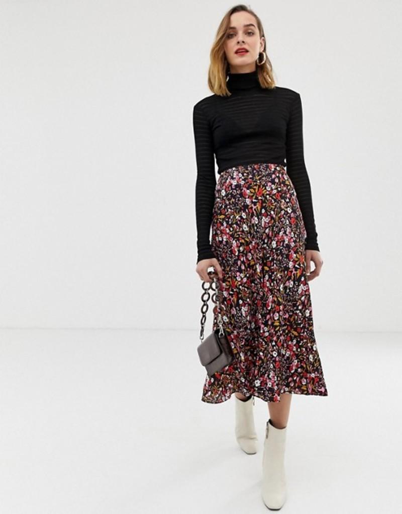 ホイッスルズ レディース スカート ボトムス Whistles floral meadow bias cut midi skirt Pink/multi