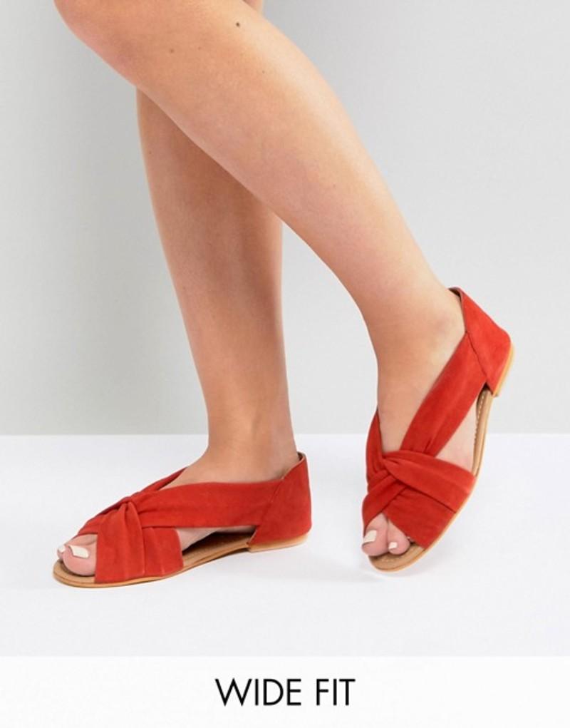 エイソス レディース パンプス シューズ ASOS JANEL Wide Fit Suede Summer Shoes Red suede