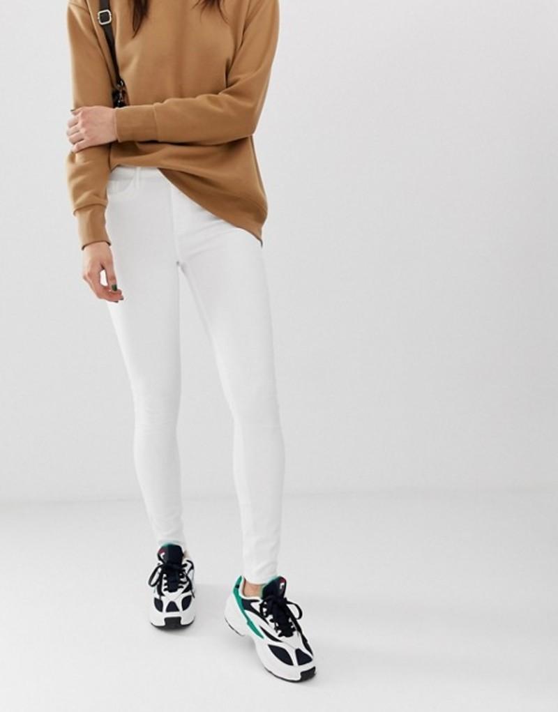 リバーアイランド レディース デニムパンツ ボトムス River Island skinny jeans in white White