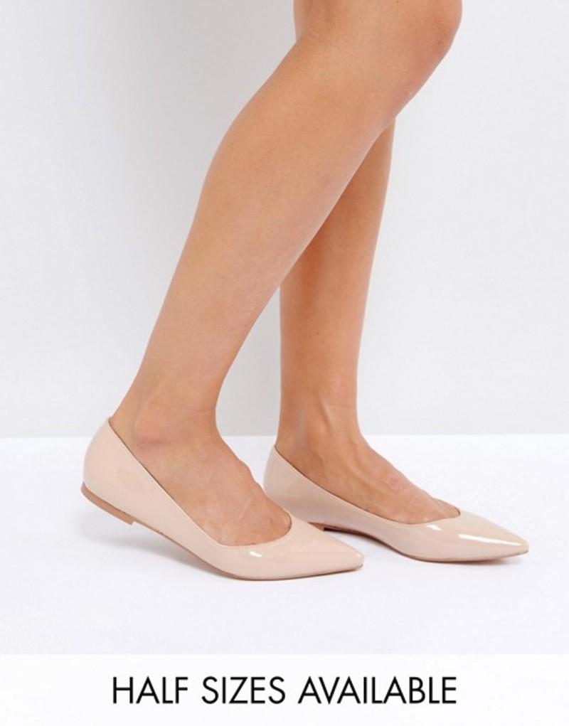 エイソス レディース パンプス シューズ ASOS LATCH Pointed Ballet Flats Almond
