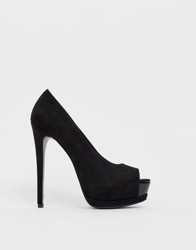 エイソス レディース ヒール シューズ ASOS DESIGN Playful platform high heels Black