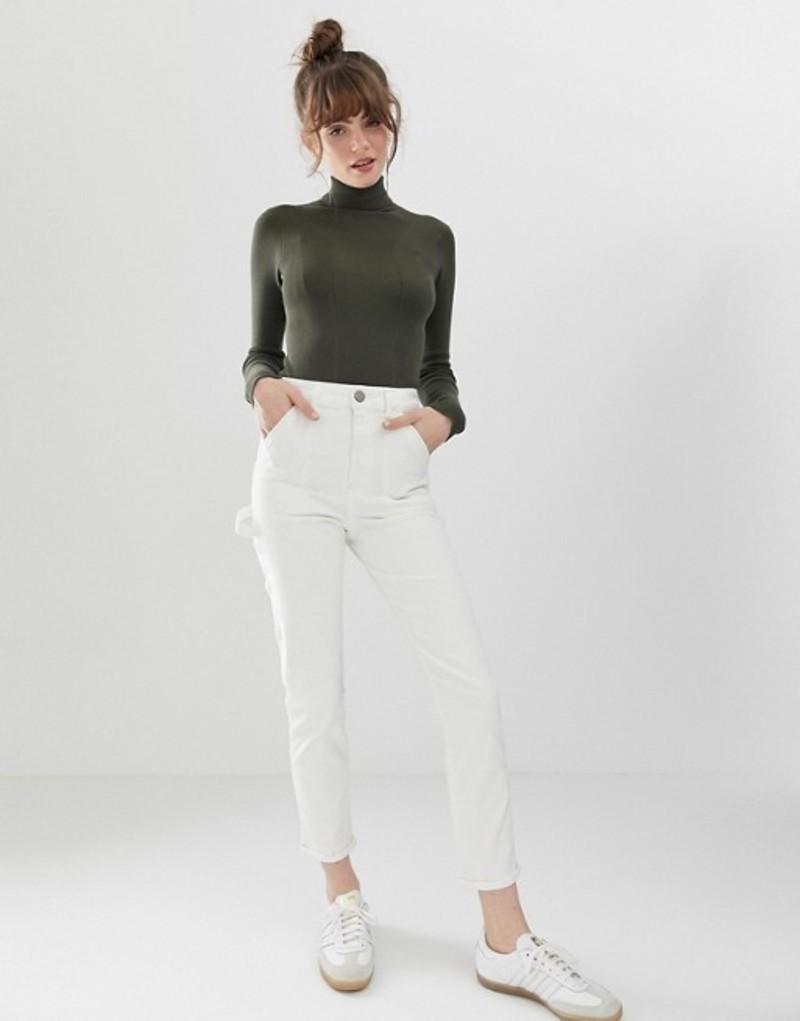 エイソス レディース デニムパンツ ボトムス ASOS DESIGN Farleigh high waist slim mom painter jeans in off white Off white