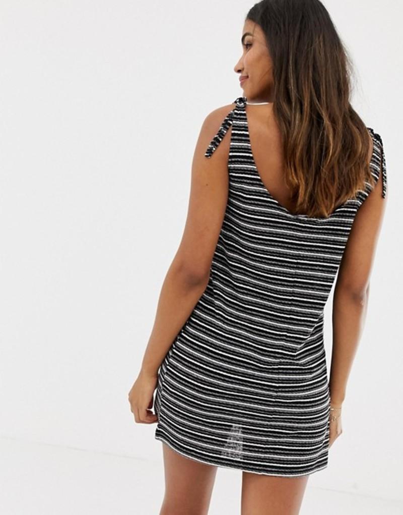 グラマラス レディース ワンピース トップス Glamorous beach dress in stripe Multik8nw0PO