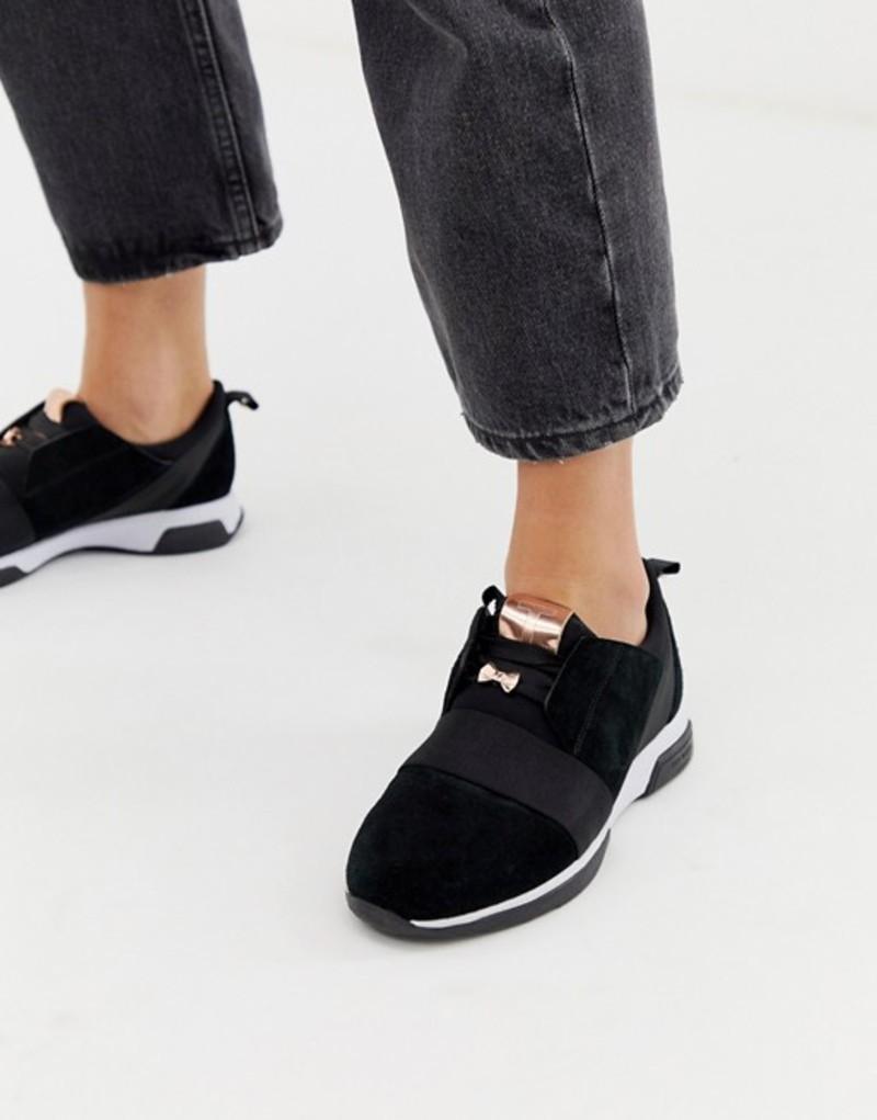 テッドベーカー レディース スニーカー シューズ Ted Baker black sporty detail sneakers Black
