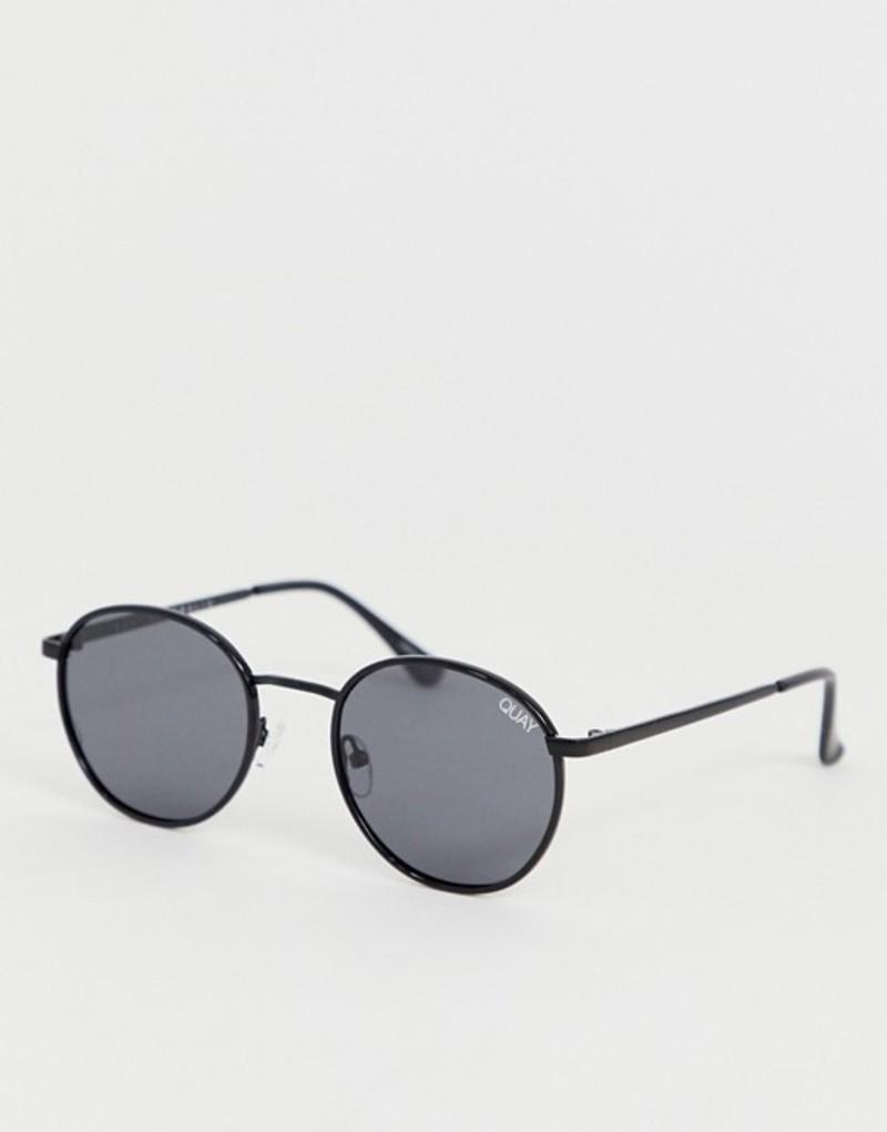 クアイオーストラリア メンズ サングラス・アイウェア アクセサリー Quay Australia Omen round sunglasses in black Black