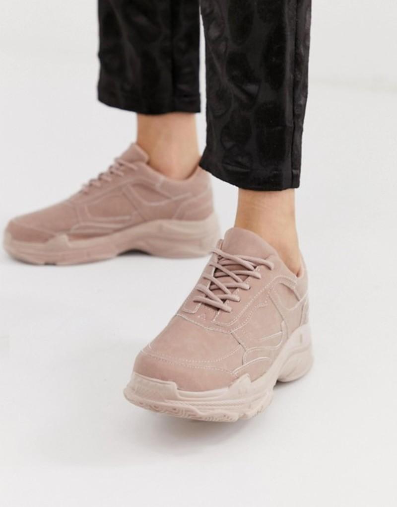 パブリックデザイア レディース スニーカー シューズ Public Desire Blend pink color drenched chunky sneakers Pink