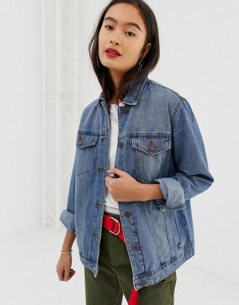 ノイジーメイ レディース ジャケット・ブルゾン アウター Noisy May oversized denim jacket Mid blue
