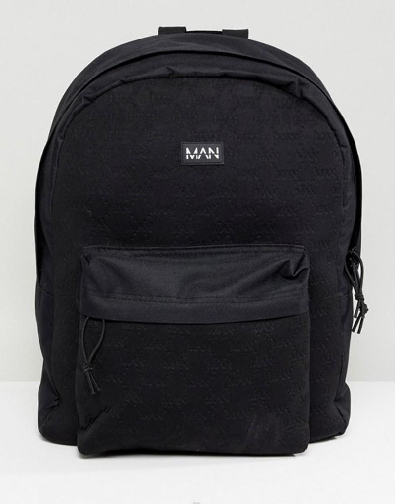 ブーフーマン メンズ バックパック・リュックサック バッグ boohooMAN backpack with man embossing in black Black