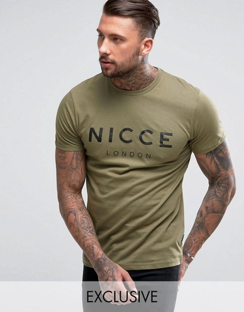 ニースロンドン メンズ Tシャツ トップス Nicce logo t-shirt in green exclusive to ASOS Green