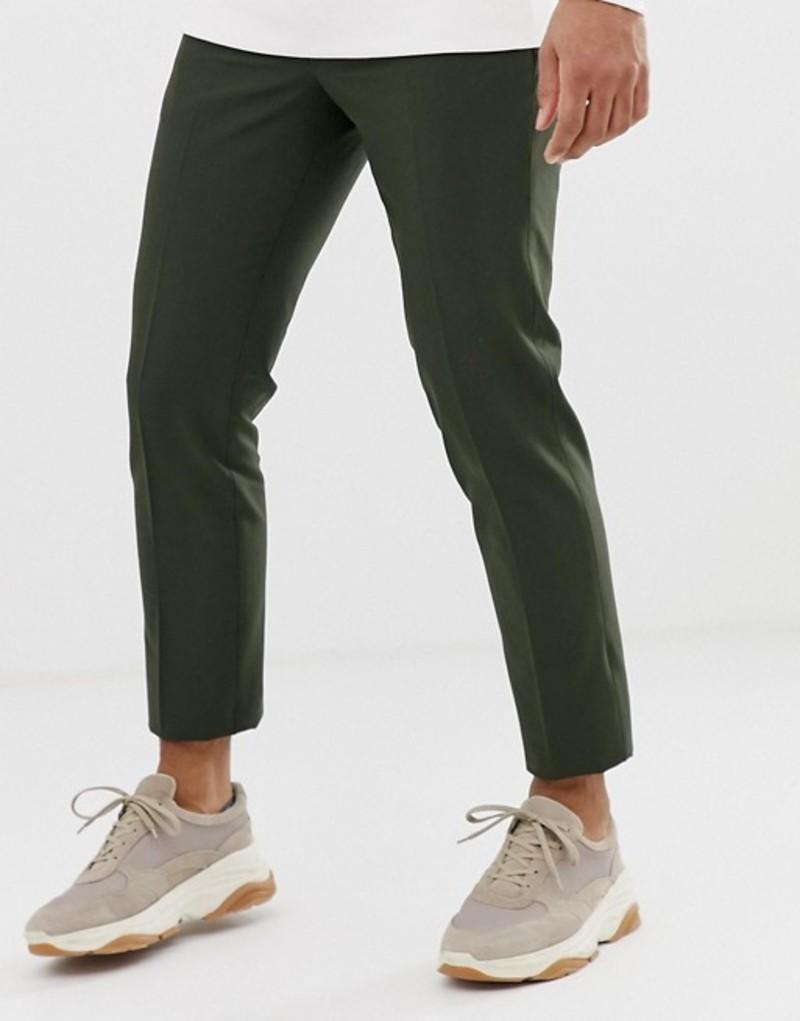 ノーク メンズ カジュアルパンツ ボトムス Noak skinny smart pants in khaki Green