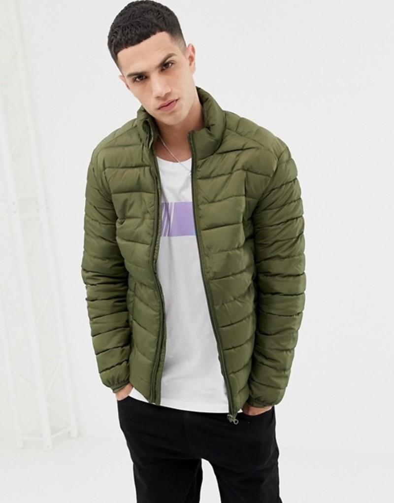 オンリーアンドサンズ メンズ ジャケット・ブルゾン アウター Only & Sons quilted jacket Olive night