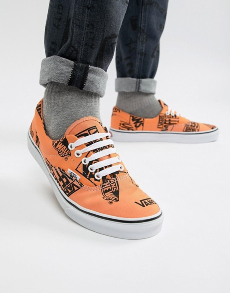 バンズ メンズ スニーカー シューズ Vans era plimsolls in orange VN0A38FRU8K1 Orange