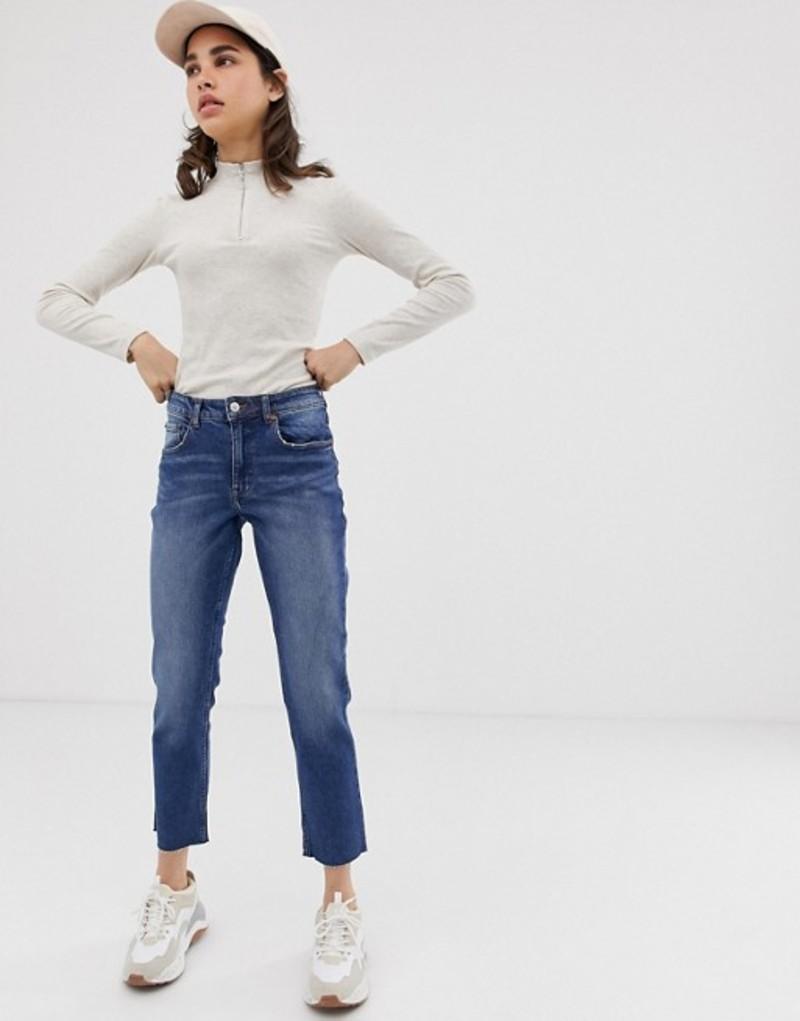 チープマンデー レディース デニムパンツ ボトムス Cheap Monday Revive straight cropped jeans Blue high