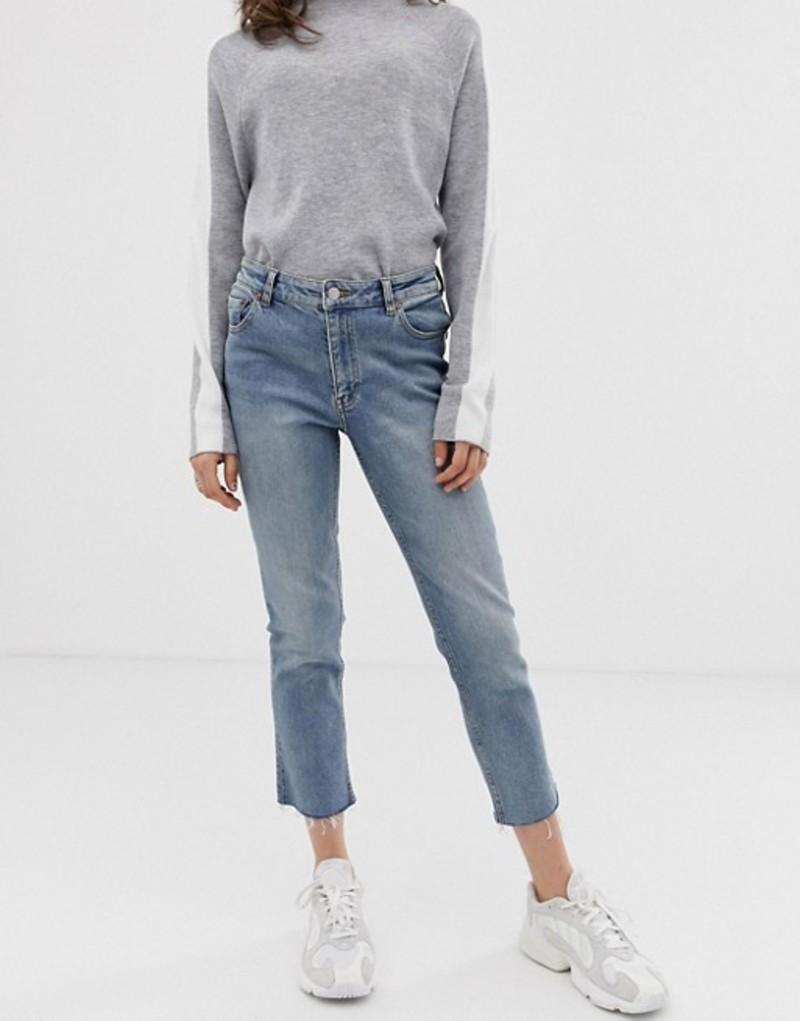 チープマンデー レディース デニムパンツ ボトムス Cheap Monday Revive straight cropped jeans Never blue