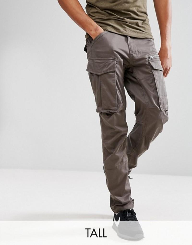 ジースター メンズ カジュアルパンツ ボトムス G-Star Rovic zip cargo pants 3D tapered Grey