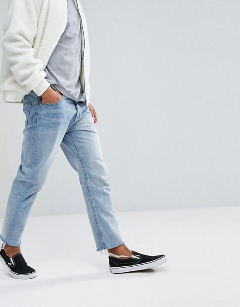 チープマンデー メンズ デニムパンツ ボトムス Cheap Monday Tapered Jeans in Light Blue Blue blaze